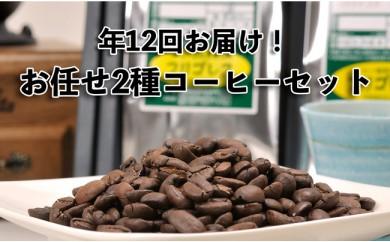 【年12回毎月お届け!】フリゴレスお任せ2種コーヒーセット(GCF)