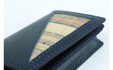 【重要無形文化財】喜如嘉の芭蕉布 カード入れ&キーホルダーセット(紺)