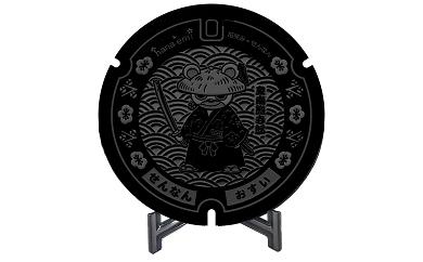 B-028 ミニチュアグラウンドマンホール泉南熊寺郎型タイプ(ブラック)