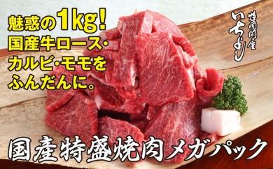 B307 国産牛特盛焼肉メガパック!驚愕の1kg