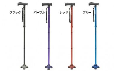 [№5712-0129]地面をしっかり支える折りたたみ式自立式杖 HURRYCANE