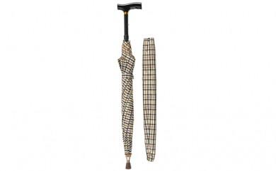 [№5712-0134]雨の日対策も万全! 傘の中に杖が収納 杖ブレラー【杖ブレラーRTL10399】