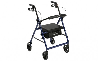 [№5712-0131]アルミ素材で軽量! 使いやすい高さ調節ができる歩行車【PiacereDue(ピアチェーレデューエ) R726BL】