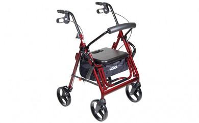 [№5712-0132]歩行車から介助車への切り替えがとっても簡単な歩行車【Duet(デュエット) 795BU】