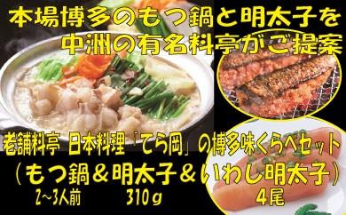 B047.日本料理てら岡・博多味くらべセット(もつ鍋)