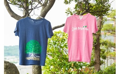 【B008】 オネマヒナ オリジナルTシャツ【ネイビーL】&ステッカー