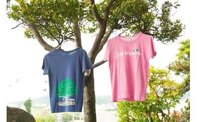 【B002】 オネマヒナ オリジナルTシャツ【ネイビーXS】&ステッカー