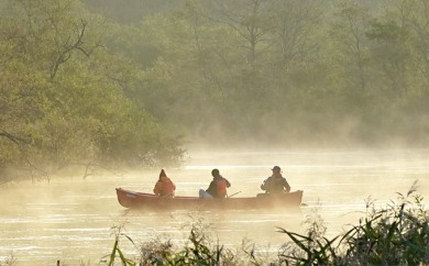 [№5766-0063]釧路湿原カヌーツーリング いいことあるかも・・朝いちカヌー