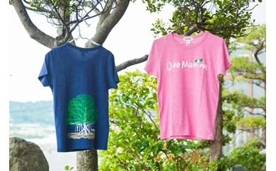 【B004】 オネマヒナ オリジナルTシャツ【ネイビーS】&ステッカー