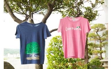 【B001】 オネマヒナ オリジナルTシャツ【ピンクXS】&ステッカー