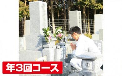 [№5698-0240]お墓掃除・お参り 安心代行サービス(年3回コース)