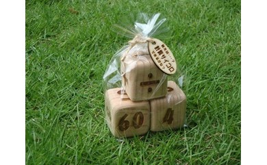 B760 木工&カフェ 木ん家 九州産 杉の計算サイコロ