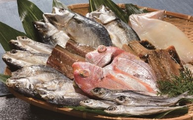 H021 旬鮮平戸干物詰合せ~8種連子鯛入り~【3,000pt】