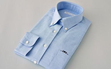 [№5636-0103]くまモンHITOYOSHIシャツ(青)婦人用