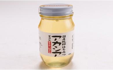 HMG028 角舘養蜂場の国産純粋蜂蜜600g【アカシア】
