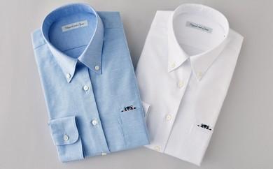 [№5636-0105]くまモンHITOYOSHIシャツ2枚セット(白・青)婦人用