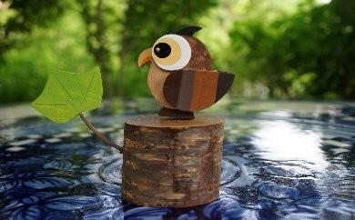 プランA-4 木工品「ふくろう置物」