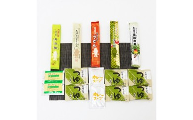 『須賀川市マスコットキャラクターボータン』パッケージ乾麺つゆセット【1016547】