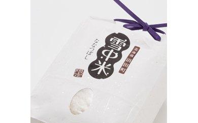 【5-19】雪中米(ななつぼし)4kg【2㎏×2袋】(29年産)