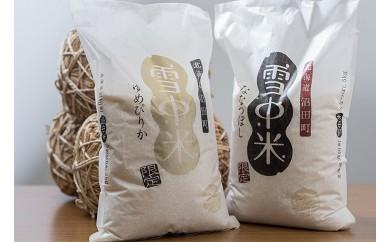 【10-49】雪中米食べ比べセット10㎏【ななつぼし5㎏・ゆめぴりか5㎏】(29年産)