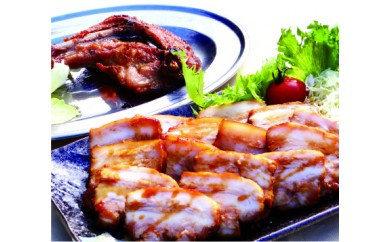 B-4 焼き豚バラ肉&国産骨付鶏セット