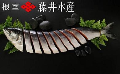 CA-23009 【北海道根室産】<鮭匠ふじい>時しらず鮭半身姿切身[334841]