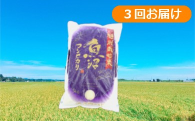 【C2902】魚沼産コシヒカリ 特別栽培米定期便15kg(5kg×3回)