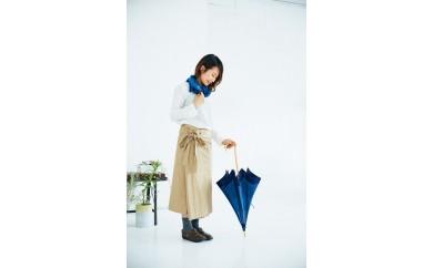 005-008 阿波しじら織 日傘と藍染ストールのセット