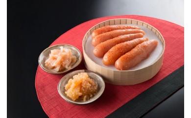 S42【お中元】うまかもんセット(樽入り辛子明太子・いか・数の子)と明太辛子高菜120g