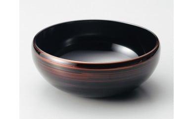 伝統工芸品★伝統の洗練された美しさ『越前漆器  彩波盛鉢 白檀』