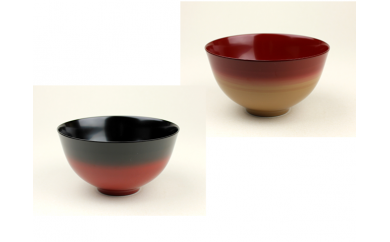 【3P】伝統工芸品★伝統の洗練された美しさ『越前漆器 美味しい椀  かすみ 1客(内黒・内朱)』