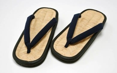竹皮草履(男性用)竹粋 濃藍 020-H01