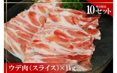 幻の国頭イノブタ ウデ肉(スライス)【毎月10セット限定】