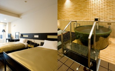 [№5793-0112]祝いの宿 登別グランドホテル ペア宿泊券(客室露天風呂、1泊2食付)