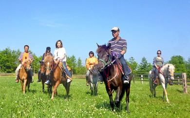 [№5793-0121]登別ホースパーク遊駿 体験乗馬コース利用券(約30分、1名様分)