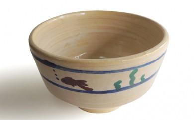 [№5990-0034]金魚絵抹茶茶碗