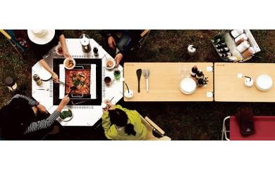29-10-011.<スノーピーク>焚火台+囲むテーブルセット