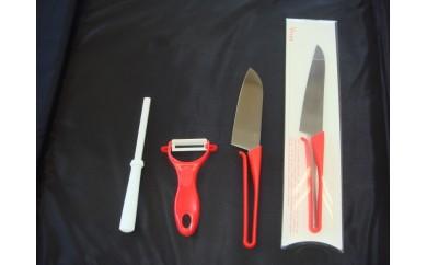 H12-02 新生活応援セット(包丁2本と皮むき器とシャープナー)