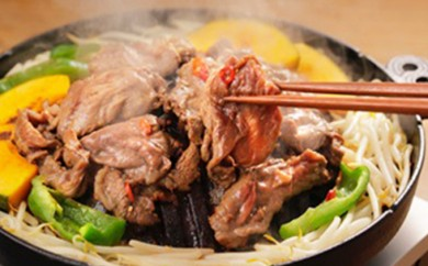 [№5524-0074]りくべつ鹿ジンギスカン (ピリ辛)&味噌漬け3種類セット