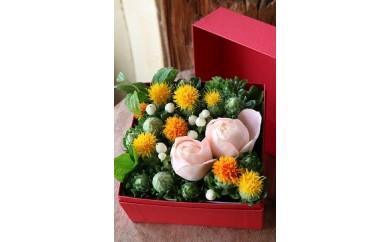 AM01 山形の県花  紅花 花折り箱