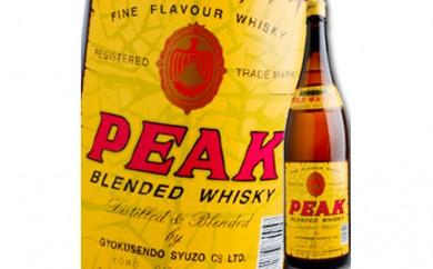 [№5787-0158]地ウィスキー PEAK ピーク 1.8L 1本