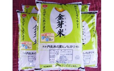 No.470 大分丹生米の里ヒノヒカリ金芽米(5袋) / お米 コメ ひのひかり 健康 ヘルシー 大分市 人気