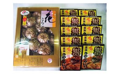 No.476 (F)大分産乾しいたけと豊後きのこカレー / どんこ 椎茸 シイタケ 干し キノコ レトルト 人気