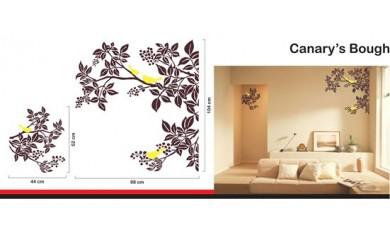 B146 ウォールステッカー ヤドリギとカナリア「Canary's Bough」WD-063