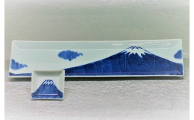 H261富士山長角皿&ミニ角皿