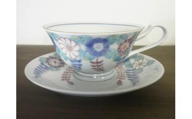 H280辻が花 紅茶碗皿