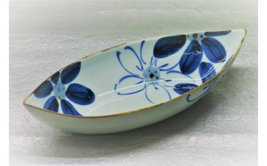 H269大輪花船形カレー鉢