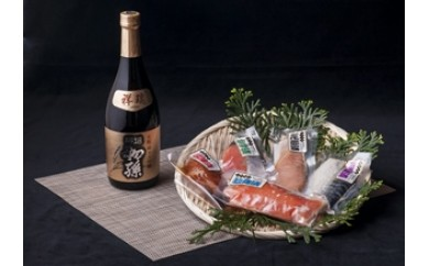 NB271 エーコープオリジナル漬魚詰合せと清酒 初孫 純米大吟醸酒「祥瑞」セット