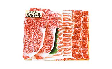 7C-04鹿児島県産黒毛和牛ステーキ・黒豚しゃぶしゃぶ詰合せ