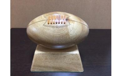 東大阪で手作り 木製ラグビーボール 26×15